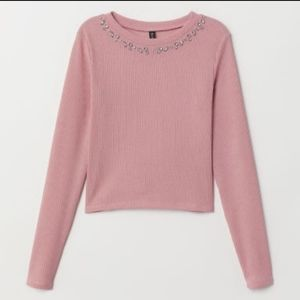 NWOT H&M Divided Ribbed Jersey Long Sleeve Top